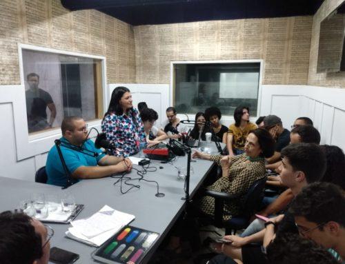 inauguração do estúdio de rádio com Figueredo Jr.